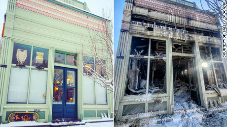Sally Jo Ocasio's vintage store, The Vault, in Ridgway, Colorado, relocated to a bigger space last month. But it burned down just two days later.