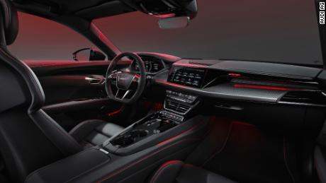 To minimize its environmental impact, the Audi E-tron GT's standard interior is made from artificial leather, but real leather is an option.
