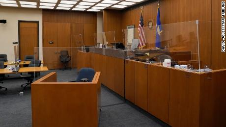 Plexiglass partitions have been installed in the courtroom where the Derek Chauvin trial will take place.