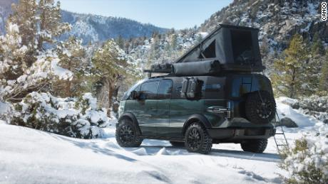 The Canoo truck will designed to work with camper shells that connect to the bed, the company said.