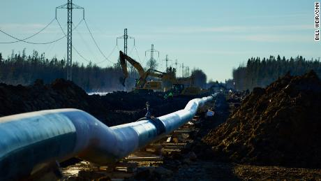 """The pipeline snakes through an """"energy corridor"""" along with power lines."""
