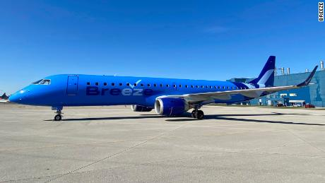 A Breeze Airways jet ready for launch later this year.